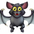 Cute Halloween Bat Cartoon — Stock Vector #32939579
