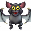 Stock Vector: Cute Halloween Bat Cartoon