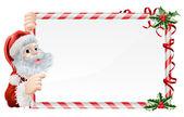 Christmas Santa Claus Sign — Stock Vector