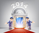 New Year 2014 Red Carpet — Stock Vector