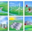Power and Energy Sources — Stockvectorbeeld