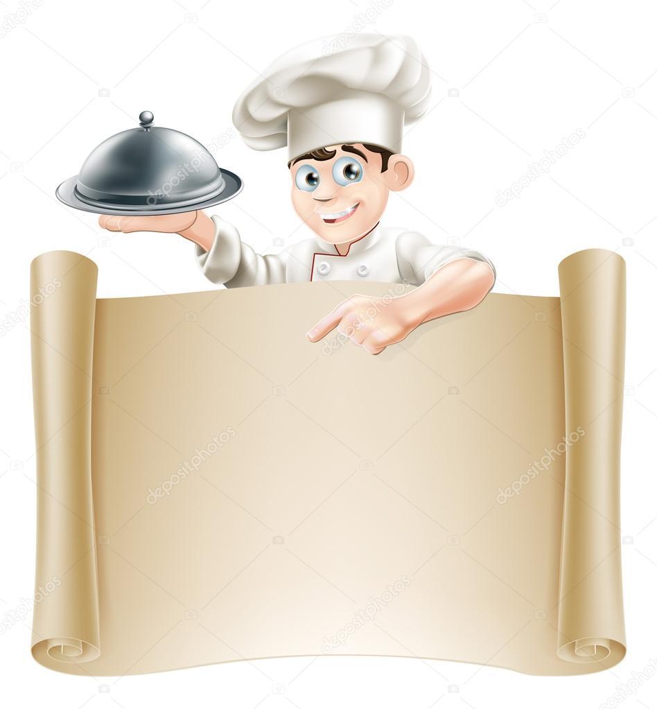 Banner men chef vector de stock krisdog 34456763 for Z cucina menu