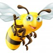 Cartoon Bee Waving — Stockvector