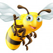 Vector de stock : Cartoon Bee Waving