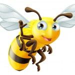 Cartoon Bee Waving — Stockvector