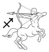 Sagittarius zodiac horoscope astrology sign — Stock Vector