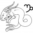 Постер, плакат: Capricorn zodiac horoscope astrology sign