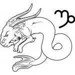Capricorn zodiac horoscope astrology sign — Stock Vector