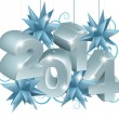 New Year or Christmas 2014 Decorations — Vettoriali Stock