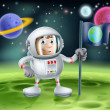 Astronaut Outer Space Cartoon — Stockvektor
