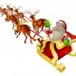 Santa Christmas Sleigh — Stock Vector