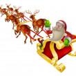 Santa Christmas Sleigh — Stock Vector #35192257
