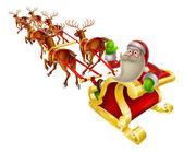 Santa Christmas Sleigh — Stock Vector