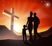 Christian Family Concept — Stockvector