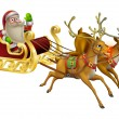 Santa Claus Christmas Sleigh — Stock Vector