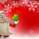 Santa Christmas Border Background — Stock Vector #35783569
