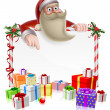 Santa Christmas Banner — Stock Vector