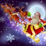Santa Claus Sleigh Christmas Scene — Stock Vector #35838187