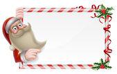 Santa Christmas Sign — Stock Vector