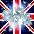 2014 Union Jack Flag — Image vectorielle