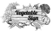 Vintage vegetable produce sign — Vecteur