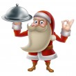 Santa Cooking Christmas Food — Stock Vector #36069097