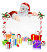Santa Christmas Gifts Sign — Stock Vector