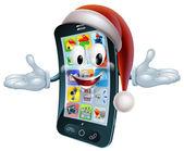Christmas phone mascot — Stock Vector