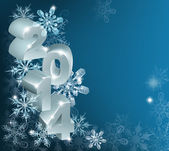 New Year or Christmas 2014 Snowflakes Background — Stock Vector