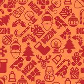 Seamless Modern Christmas Background Pattern — Stock Vector