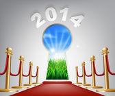 New Year Door Keyhole 2014 — Stock Vector