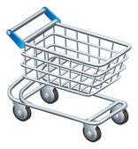 Shopping trolley icon — Stock Vector