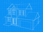House blueprint — Vector de stock