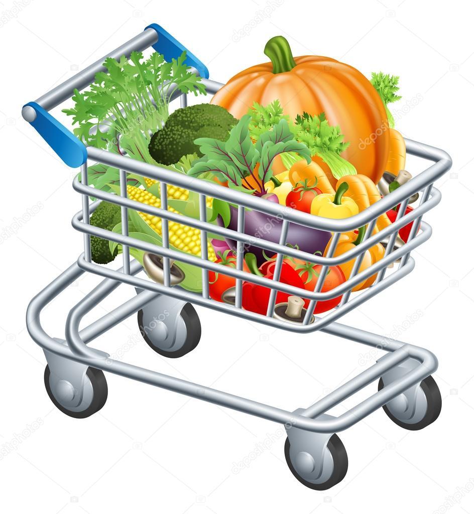 蔬菜车 - 图库插图