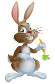 Bunny rabbit and carrot — Stock Vector