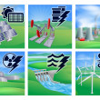 Power and Energy Icons — Stock Vector