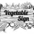 Vegetable produce sign — Vecteur #38601349