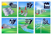 Kraft und energie-symbole — Stockvektor