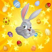 White Easter bunny background — Stockvector