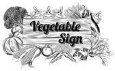 Vegetable produce sign — Stockvector