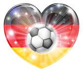 German soccer heart flag — Stock Vector