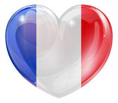 French flag heart — Stock Vector