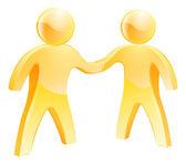 People shaking hands concept — Stock Vector