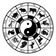 Stock Vector: The Chinese Zodiac Animals