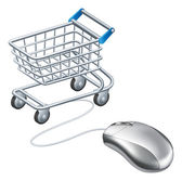 Online shopping cart mouse — Stock Vector