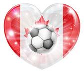 Canada soccer heart flag — Vector de stock