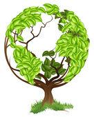 Conceito de mundo árvore verde globo terra — Vetor de Stock