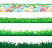Seamless grass elements — Stock Vector