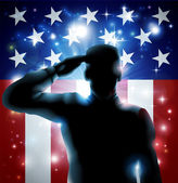 Hero Soldier and Stars and Stripes — Wektor stockowy