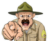 Boot camp sergent — Vecteur
